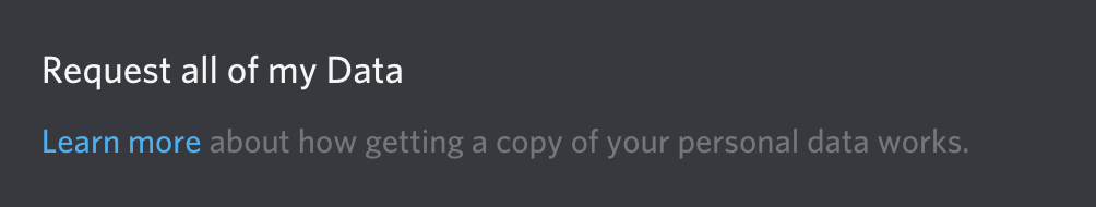 request discord data